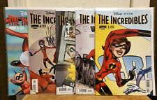 THE INCREDIBLES #1-4 (MINI-SERIES) & #1 (ON-GOING) MARK TAKARA SIGNED #3, 4