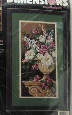 "Dimensions Needlepoint ""Flowers On A Pedestal"" Kit 2488 by Barbara Mock Rare NIP"