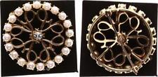 Biedermeier Brosche bzw. Anhänger mit Diamant und kleinen Perlen perfekter Zust.