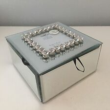 CRYSTAL DIAMANTE MIRRORED GLASS JEWELLERY TRINKET BOX CRYSTALS PHOTO FRAME GIFT