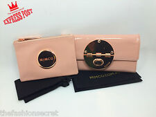 BNWT MIMCO LARGE TURNLOCK WALLET Blush Pink Rose Gold & SMALL BLUSH PINK POUCH