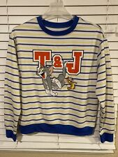 Vintage Tom And Jerry Sweatshirt White With Stripes