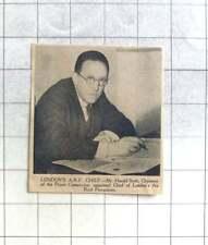 1939 Mr Harold Scott Chief Of London's Air Raid Precautions