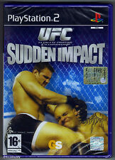 PS2 UFC Sudden Impact (2004) UK/Euro PAL italienische boxtext Sony Factory Sealed