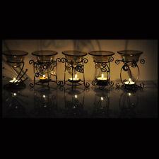 Vintage Metal Oil Burner Fragrance Oils Aromatherapy tealight Candle Holder-PICK