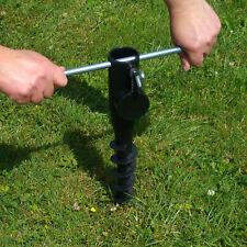 Sonnenschirmhalter Bodenhülse schwarz Erdspieß Sonnen Schirm Mast Halter robust