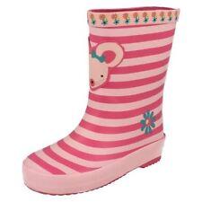 Calzado de niña botas de agua rosa sintético
