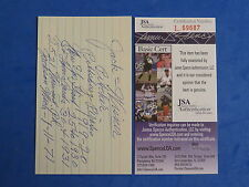JACK WISNER SIGNED 3x5 INDEX CARD JSA L69687 - PIRATES, GIANTS, CARDINALS D 1981