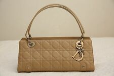 New With Tag Christian Dior Lady Dior Beige Leather Cannage handbag bag