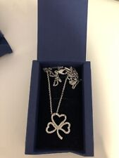 100% AUTHENTIC SWAROVSKI SILVER CLOVER LUCKY PENDANT *very Good Condition*