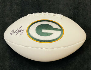 Bart Starr Signed Autographed Green Bay Packers Full Size Logo Football