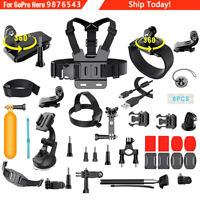 Monopod Mount Accessories Bundle Kit For GoPro Hero 8 Black 9 7 6 Sports Camera