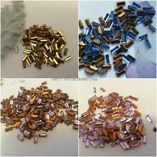 Swarovski #4501 Baguette rhinestones Gold Foiled 5x2mm Pk 12 CRAFT Post Free