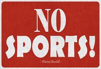N º Sports Winston Churchill Letrero de Metal Arqueado Tin Sign 20 X 30CM