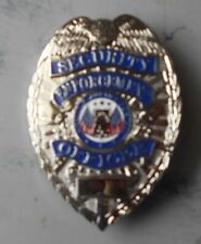 Silver Color Private Security Guard Metal/Pin Back Badge For Display