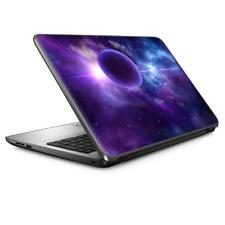 "Universal Laptop Skins wrap for 15"" - Purple Moon Galaxy"