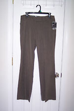 NEW Womens George 10 HerringBone Taupe Pants Excellent Condition!! Great Fabric