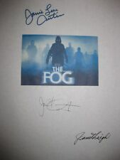 The Fog Signed Film Script X3 John Carpenter Jamie Lee Curtis Janet Leigh rprint