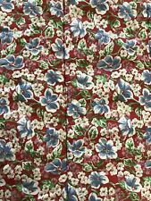 Ralph Lauren Falmouth Twin Comforter Red Blue Floral 53x86