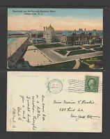 1915 BOARDWALK AND MARLBOROUGH-BLENHEIM HOTEL ATLANTIC CITY NJ POSTCARD