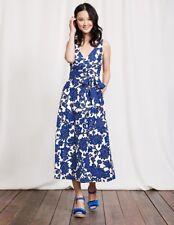 BODEN  New  Riviera Dress - Blue Island Vine - UK 8 L - 2017