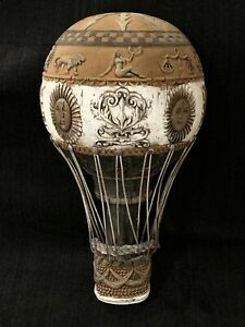 French Hot Air Balloon Wall Sculpture ~ Vintage ~ 1971