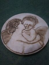 Heavy Duty plastic fiberglass Angel Cupid Concrete Stepping stone / Hanging mold