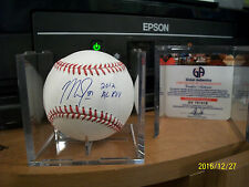 MIKE TROUT ROOKIE OF THE YEAR 2012 AUTOGRAPHED BASEBALL W/COA AWESOME