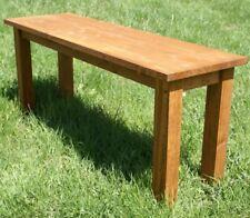 Panchina in legno ciliegio panchetto tavolino fioriera da giardino arredamento