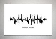 Biffy Clyro - Mountains - Sound Wave Print Poster Art