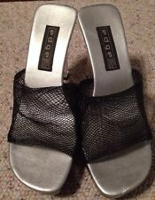 "EDGE Lucite And Mesh Platform Shoes 4-1/2"" Heels Size 7m Super Cinderella Sexy"