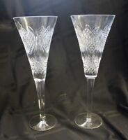Waterford Champagne Flutes Set of 2 Crystal Glasses Wedding Heirloom Collection