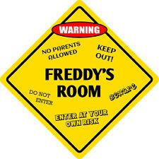 """*Aluminum* Freddy's Room Kids Room Door 12""""x12""""  Metal Novelty Sign"""