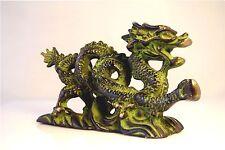 """Vintage Brass Dragon Statue Mystic Exquisite Craftsmanship Handmade 6"""""""