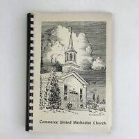 Vintage Spiral Bound Cookbook Commerce Methodist Church Union Lake Michigan MI