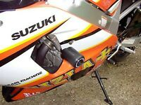 R&G White Classic Style Crash Protectors for Suzuki GSX-R600 2003 K3