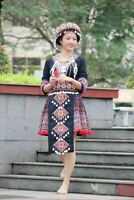 Vintage Hmong skirt handmade traditional dress embroideried & personalized dress