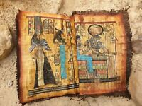 Rare Antique Ancient Egyptian Book 11 papyrus Gods KING Good Health cure 1810 BC