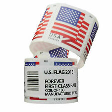 100 PCS/Roll Stamp USPS 2018 US Flag Forever Postage Stamps Free & Fast Shipping