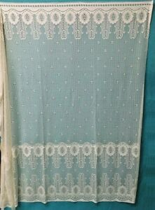 "Lace Shower Curtain North West Ivory Cotton Blend 73"" x 72"" Bath Room"