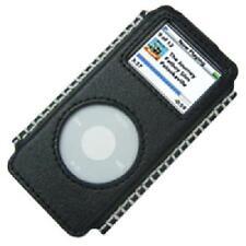 Amzer Calidad Cuero Chaqueta Con Adorno Funda Para iPod Nano 1st Gen-Negro