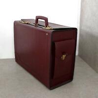 Leder Pilotenkoffer 2 x Zahlenschloß, Businesstasche, Dokumententasche