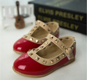 New 4Colors Toddler Baby Girls Rivet Summer Flat Sandals Party Shoes