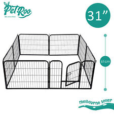 """31"""" X 24"""" 8 Panel Pet Playpen Portable Exercise Cage Fence Enclosure Dog Puppy"""