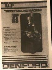 Denford T1P Turret Milling Machine Catalogue