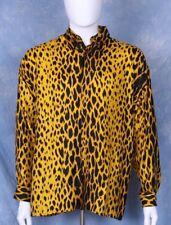 "Rare GIANNI VERSACE Leopard silk shirt Italian size M From the 1990""s"