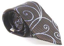Ted Baker London Men's 100% Silk Necktie USA Luxury Clean Brown Blue Paisley EUC