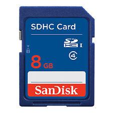 SanDisk 8GB SD SDHC Class 4 SD Memory Card SDSDB-008G Standard Blue GENUINE New