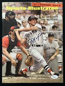 Carl Yastrzemski Signed Sports Illustrated 8/21/67 No Label Baseball Auto JSA