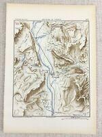 1881 Antico Militare Mappa Di Sopramonte Italia Provincia Trento Tyrol